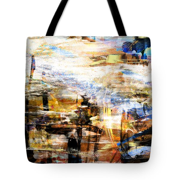 Tote Bag featuring the digital art Dancing In The Light by Art Di