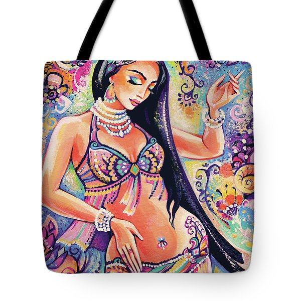 Dancing In The Mystery Of Shahrazad Tote Bag by Eva Campbell