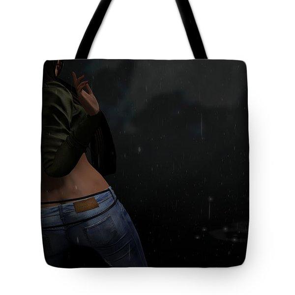 Dancing In The Rain 4 Tote Bag