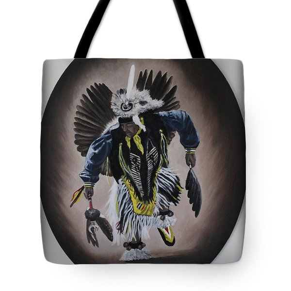Tote Bag featuring the painting Dancing In The Spirit by Michael  TMAD Finney
