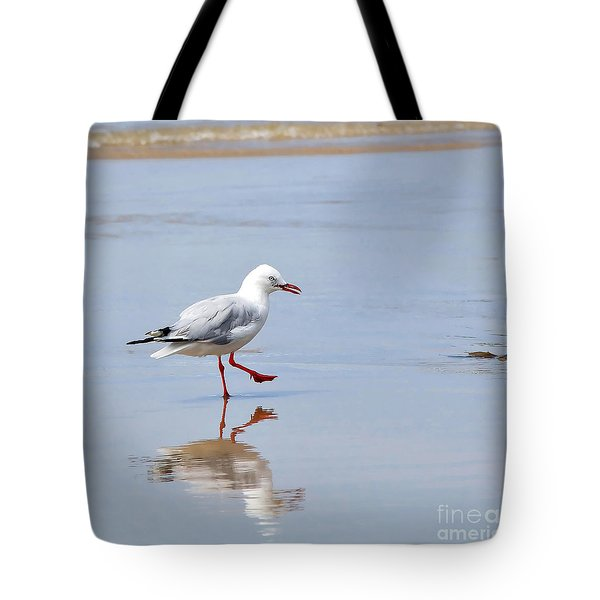 Dancing In Time With My Reflection Tote Bag