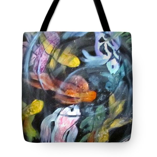 Dancing Koi Tote Bag
