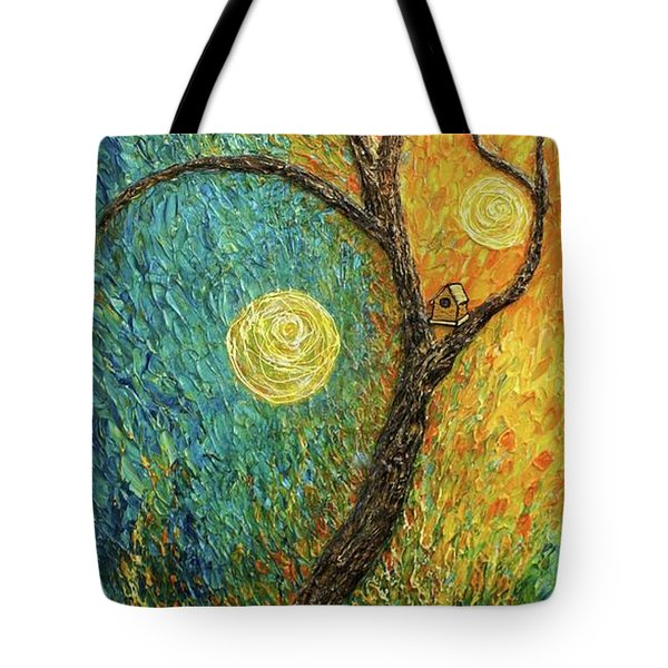 Tote Bag featuring the painting Dancing Leves by Jane Chesnut