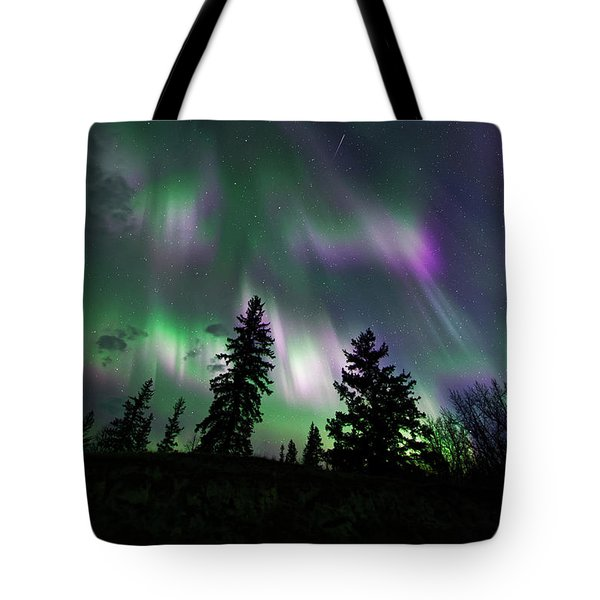 Dancing Lights Tote Bag by Dan Jurak