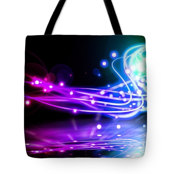 Dancing Lights Tote Bag by Setsiri Silapasuwanchai