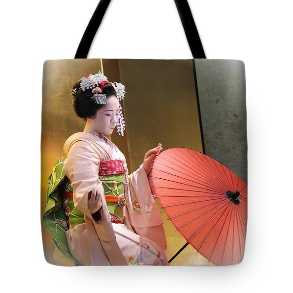 Tote Bag featuring the photograph Dancing Maiko by Yumi Johnson