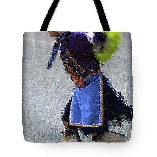 Dancing Native Child Tote Bag