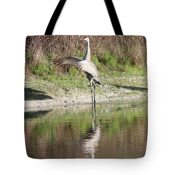 Dancing On The Pond Tote Bag by Carol Groenen