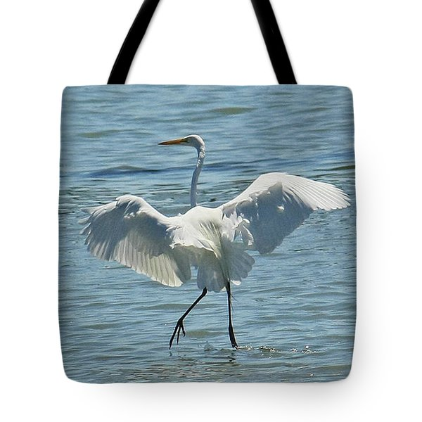 Tote Bag featuring the photograph Dancing On Water by Terri Mills