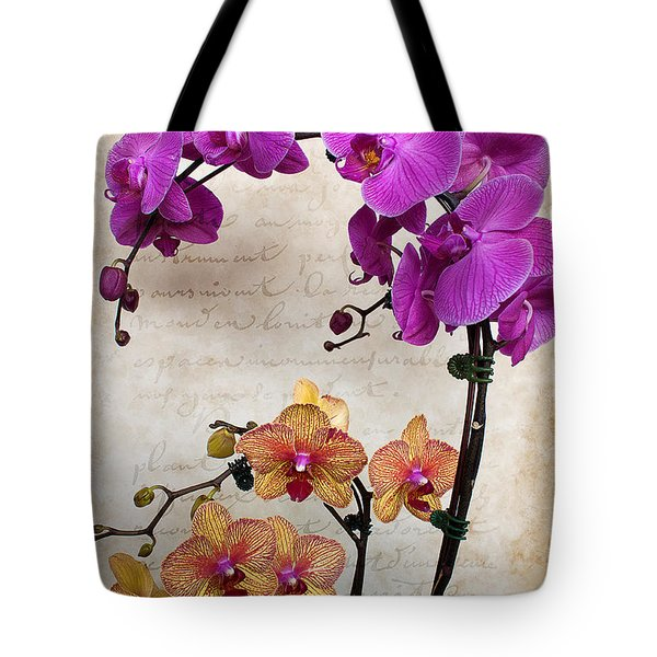 Dancing Orchids Tote Bag