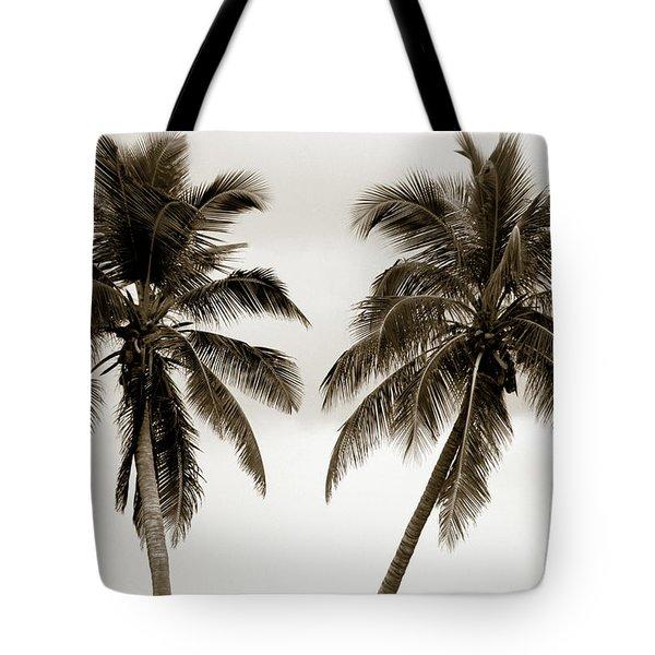 Dancing Palms Tote Bag by Susanne Van Hulst