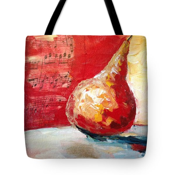 Dancing Pear Tote Bag by Roxy Rich