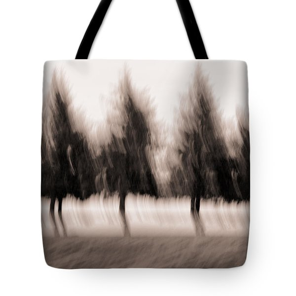 Dancing Pines Tote Bag by Carol Leigh