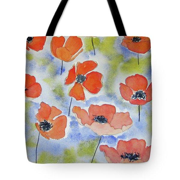 Dancing Poppies Tote Bag