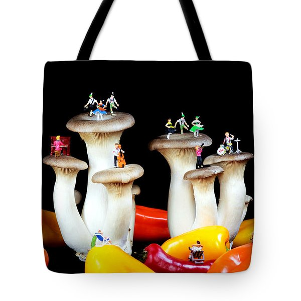 Dancing Show On Mushroom Tote Bag by Paul Ge