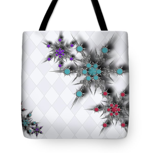 Dancing Snowflakes Tote Bag