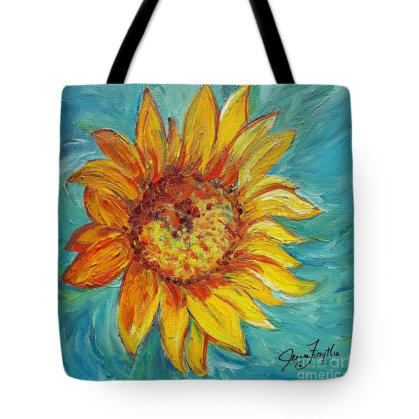 Dancing Sunflower  Tote Bag by Jeanne Forsythe
