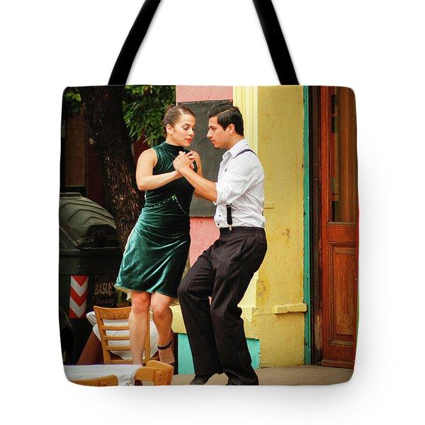 Dancing Tango Tote Bag by Silvia Bruno