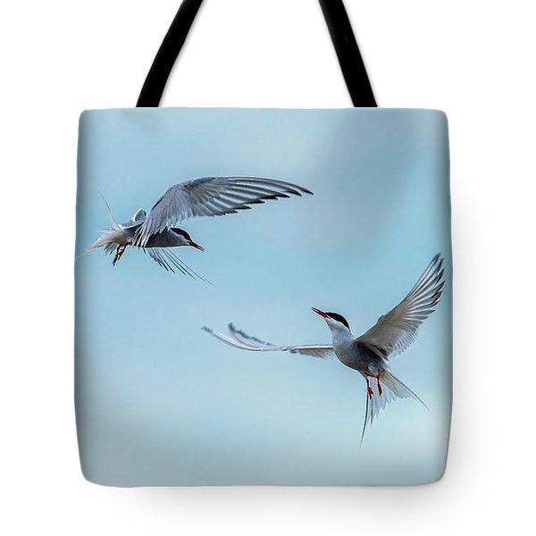 Dancing Terns Tote Bag