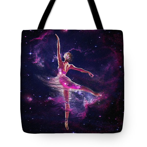 Tote Bag featuring the digital art Dancing The Universe Into Being 2 by Jane Schnetlage