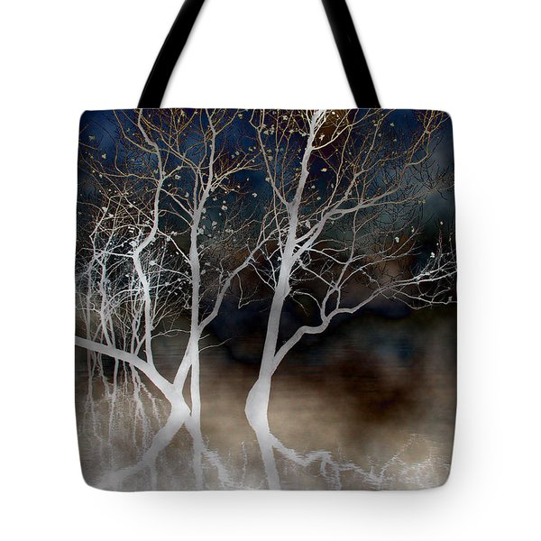 Dancing Tree Altered Tote Bag