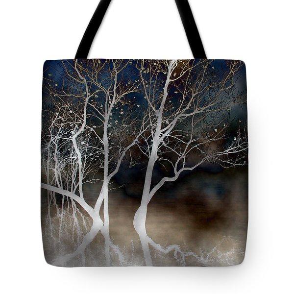 Dancing Tree Altered Tote Bag