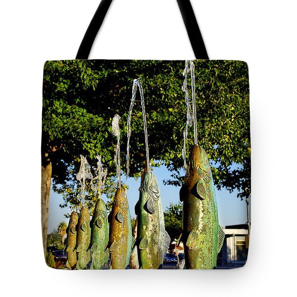 Dancing Trout Fountain Tote Bag