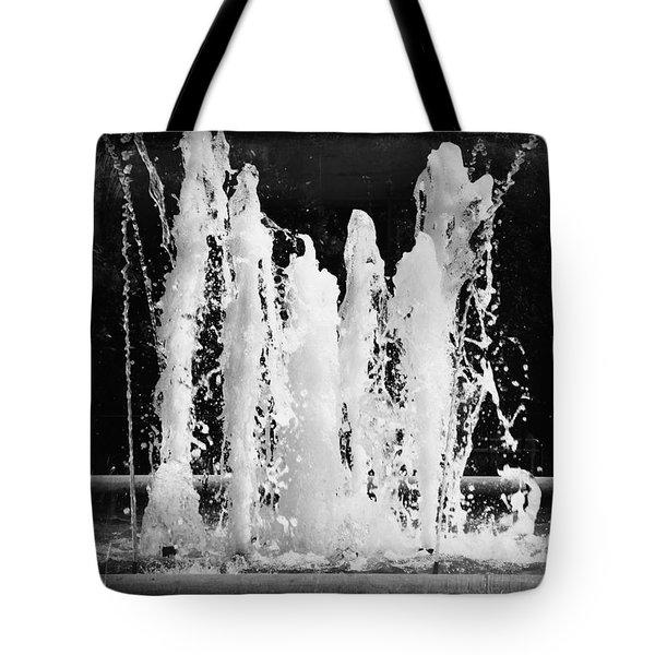 Dancing Waters B/w Tote Bag