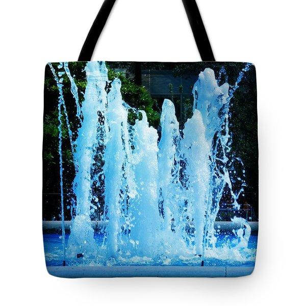 Dancing Waters Blue Tote Bag