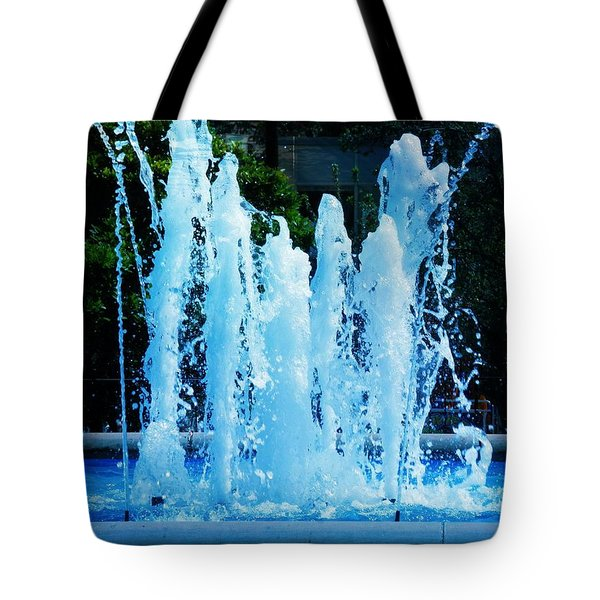Dancing Waters Blue Tote Bag