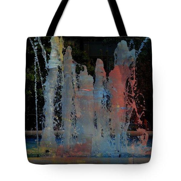 Dancing Waters Kaleidoscope Tote Bag