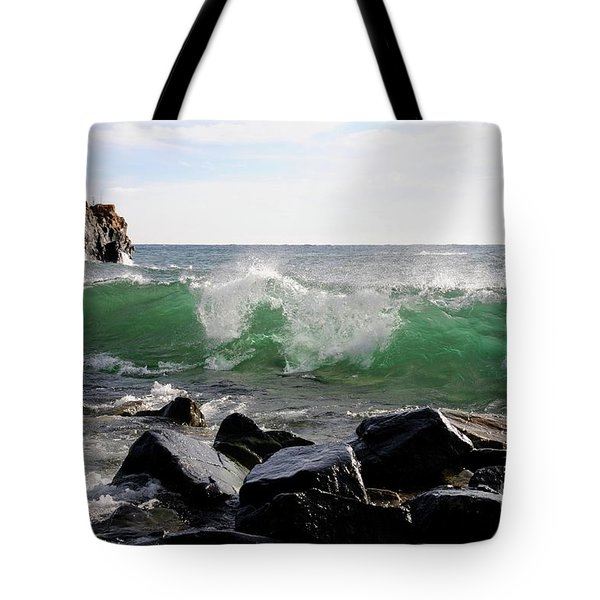 Dancing Waves Tote Bag by Sandra Updyke