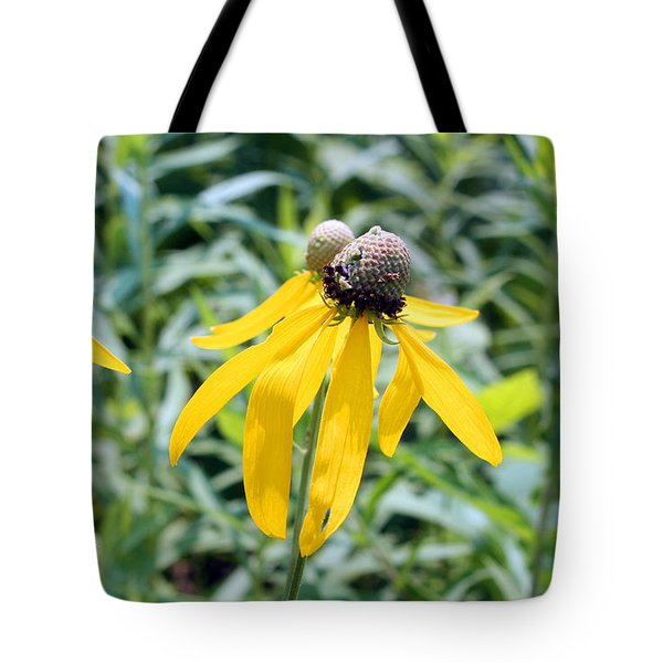 Tote Bag featuring the photograph Dancing Wildflowers by Ellen Tully