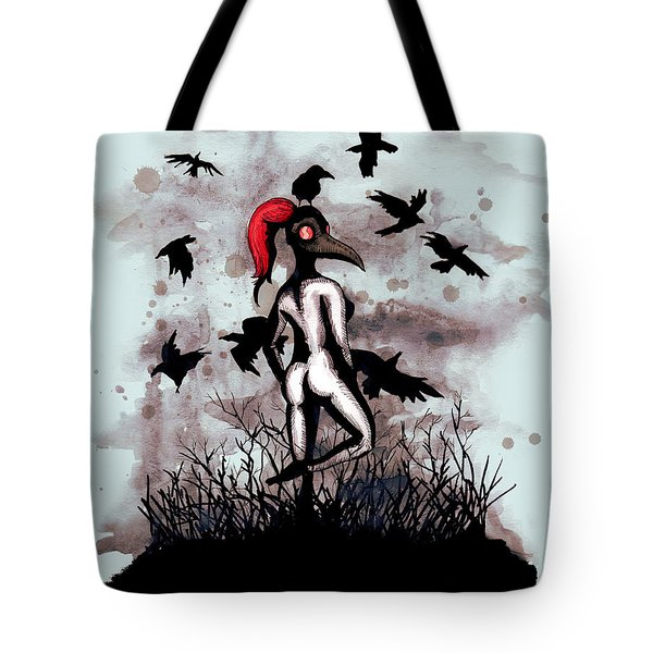 Dancing With Crows Tote Bag