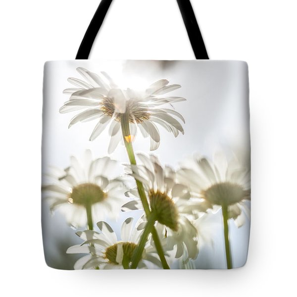 Tote Bag featuring the photograph Dancing With Daisies by Aaron Aldrich