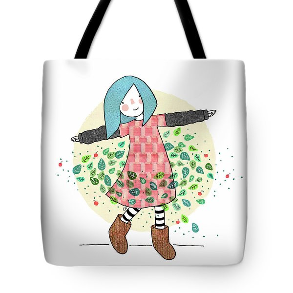 Dancing With Leaves Tote Bag