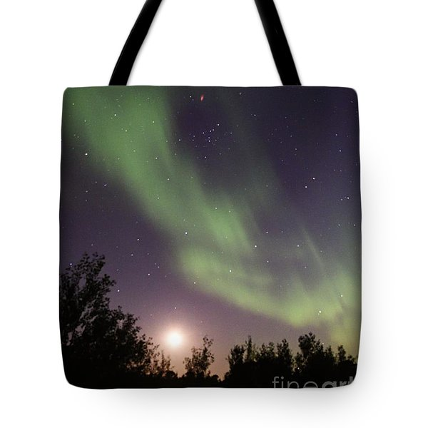 Tote Bag featuring the photograph Dancing With The Moon by Larry Ricker