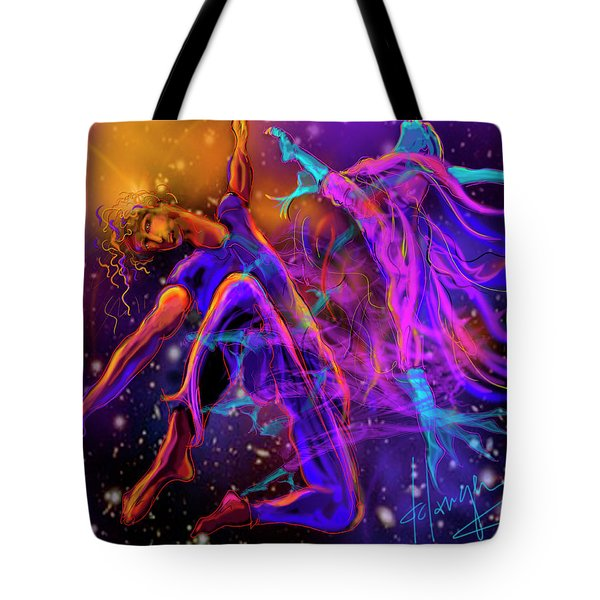 Dancing With The Universe Tote Bag