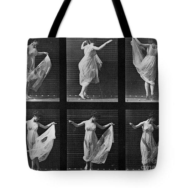 Dancing Woman Tote Bag by Eadweard Muybridge