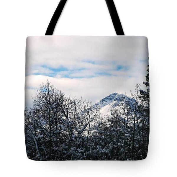 Dancing Woman Mountain In The Winter Tote Bag
