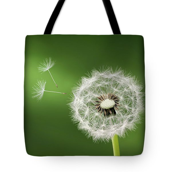 Tote Bag featuring the photograph Dandelion by Bess Hamiti