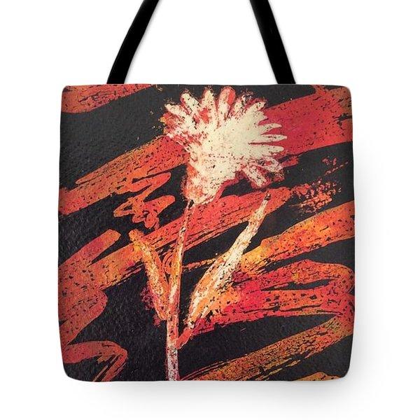 Tote Bag featuring the painting Dandelion  by Elizabeth Mundaden
