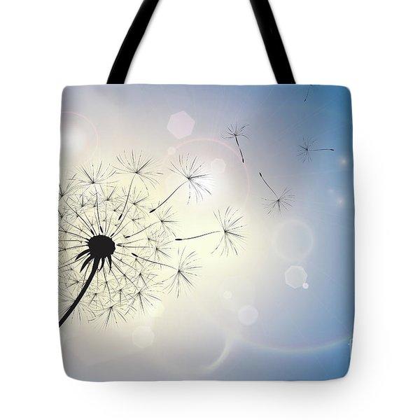 Dandelion In A Summer Breeze Tote Bag