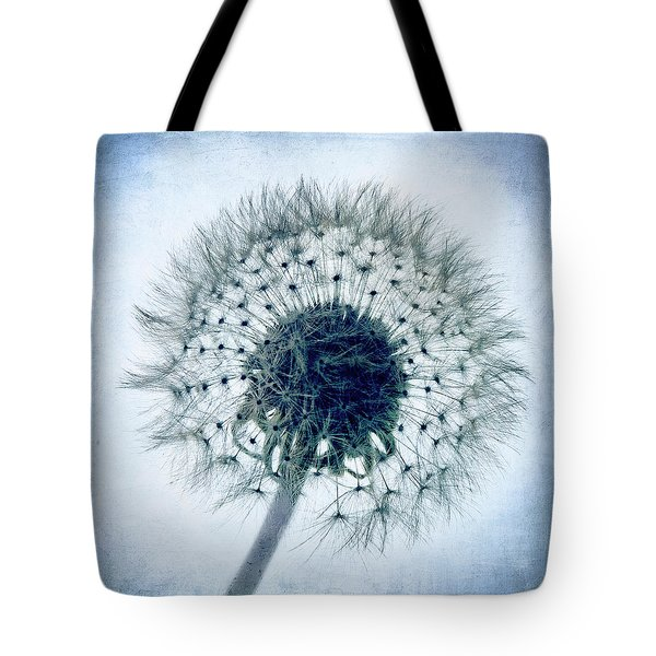 Dandelion In Blue Tote Bag by Tamyra Ayles