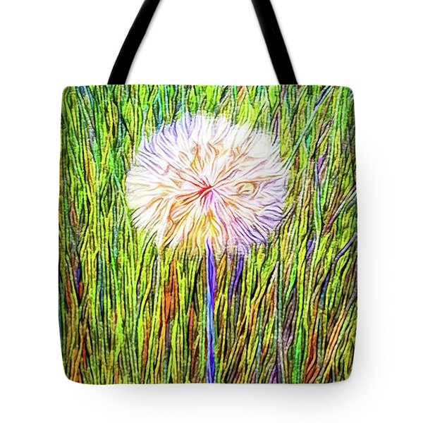 Dandelion In Glory Tote Bag by Joel Bruce Wallach