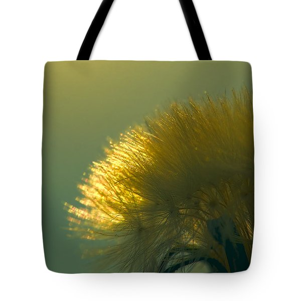 Dandelion In Green Tote Bag