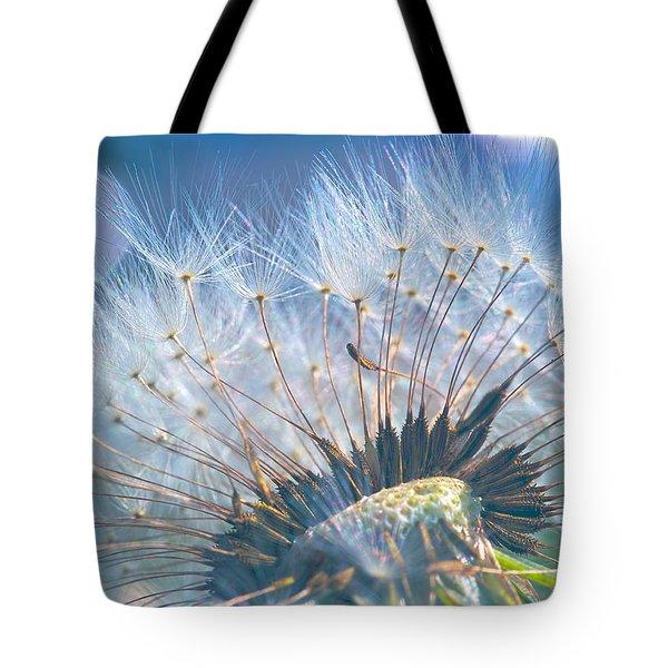 Dandelion In Light Tote Bag