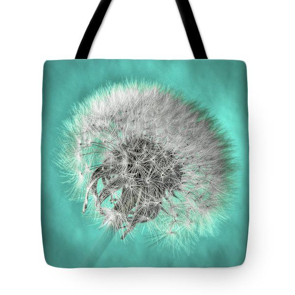 Dandelion In Turquoise Tote Bag by Tamyra Ayles