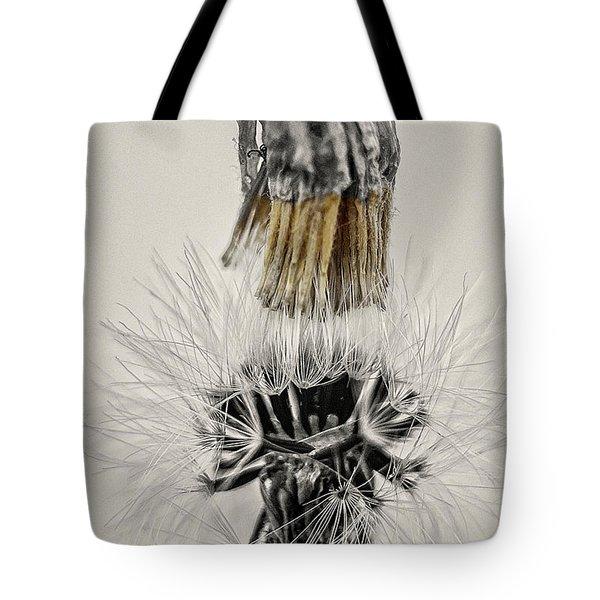 Dandelion Opening Up Tote Bag