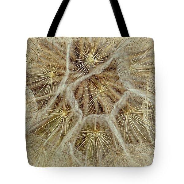 Dandelion Particles Tote Bag